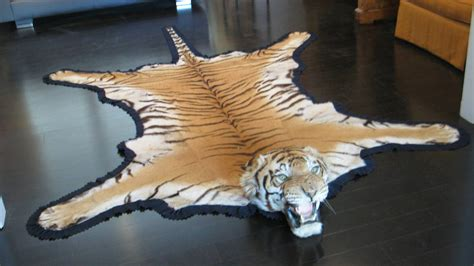 tiger skin rug with antique registered taxidermy tiger rug prior to endangered classification at 1stdibs