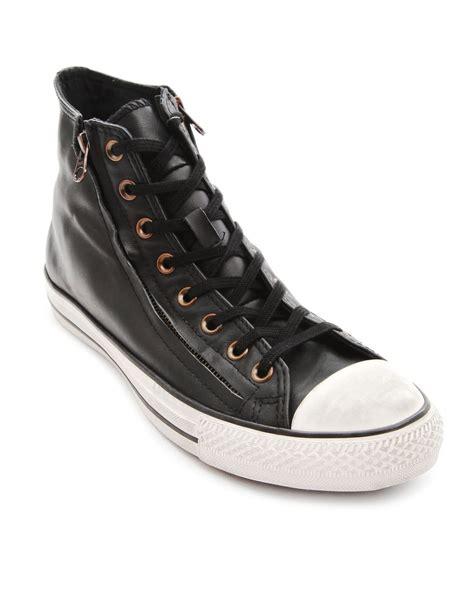 zips sneakers converse all hi leather zip black sneakers in