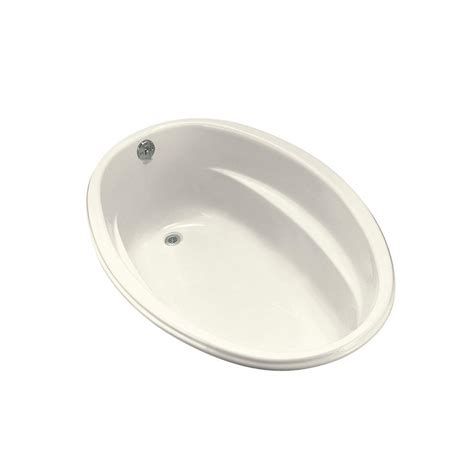 oval bathtubs kohler proflex 5 ft reversible drain oval bathtub in