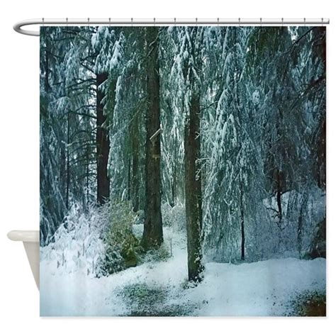 winter shower curtain winter forest shower curtain by hopeshappyhome