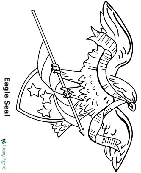 eagle flag coloring page eagle flag 4th of july coloring pages