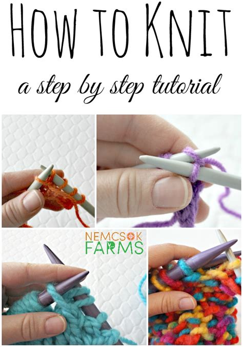 knitting how to how to knit part 1 how to cast on nemcsok farms