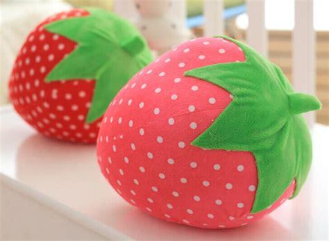 strawberry pillows 25cm birthday gift strawberry plush pillow lovely