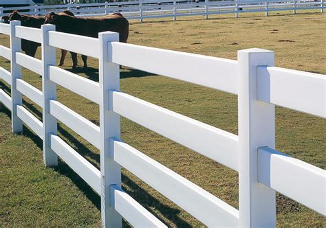 four rail vinyl fence post rail maintenance free vinyl fencing discount