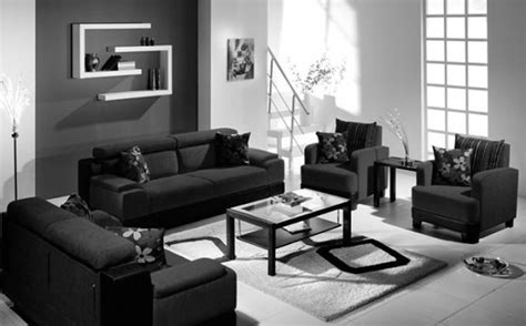 Black Living Room Ideas Black And Grey Living Room Modern House