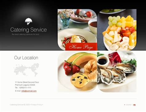 templates for catering website catering flash template 24940