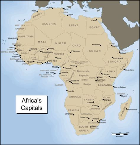 africa map and capitals 302 found