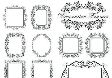 Wedding Border Photoshop Brushes by Decorative Frame Brushes Free Photoshop Brushes At