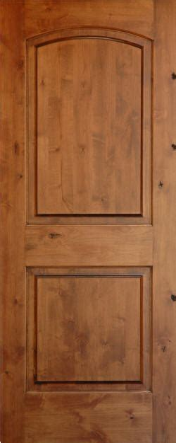 Two Panel Solid Wood Interior Doors by Knotty Alder Arch 2 Panel Wood Interior Doors Homestead