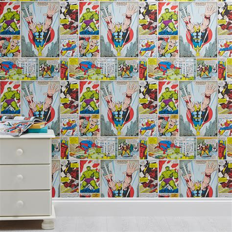 marvel comic bedroom decor marvel comic hero s kids wallpaper contemporary kids