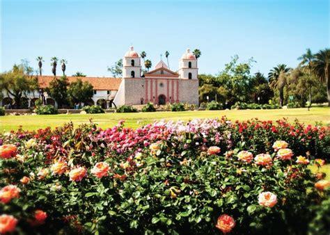 mission santa barbara and mission garden greeting
