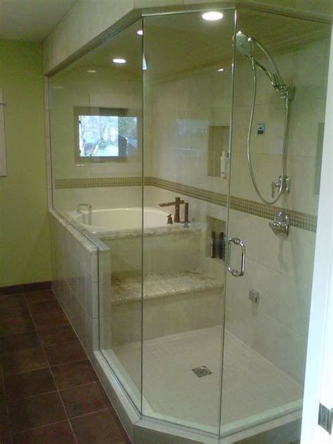 Soaker Bathtub Shower Combo I Want This Soaker Tub Shower Combo Home