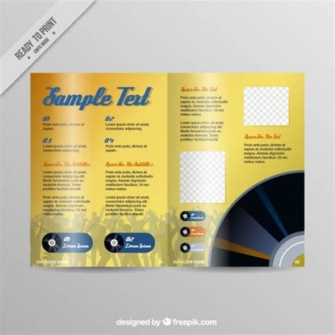 Yellow Pages Magazine Template Vector Premium Download Yellow Pages Template