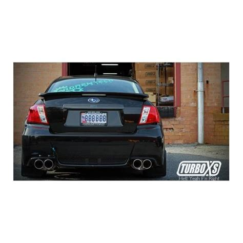 2011 subaru wrx exhaust systems turboxs cat back exhaust 2011 2014 wrx sti sedan