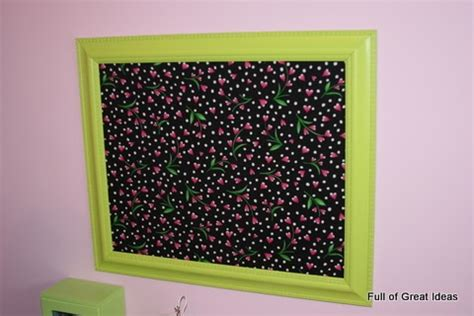 full of great ideas how full of great ideas framed magnetic board on my 0 budget