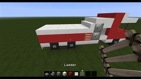 minecraft fire truck minecraft lets build a fire truck youtube