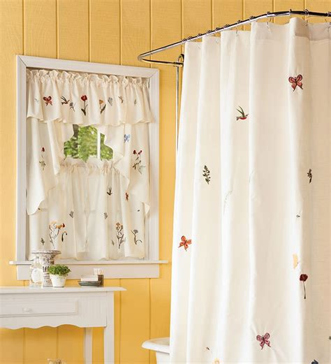 floral window curtains emily floral window curtain 36 quot l tiers collection