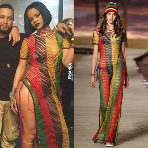 whats wearing in jamaica now rihanna in tommy hilfiger