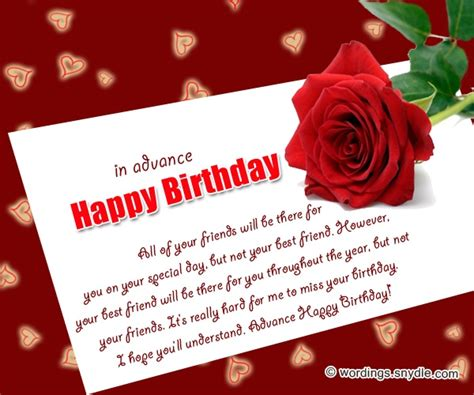 Happy Birthday Wishes In Advance Sms Advance Birthday Wishes Images For Lover Clipartsgram Com