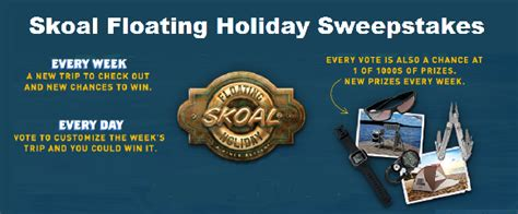 Skoal Sweepstakes 2017 - win 10 000 travel vouchers on skoal floating holiday sweepstakes contestbank