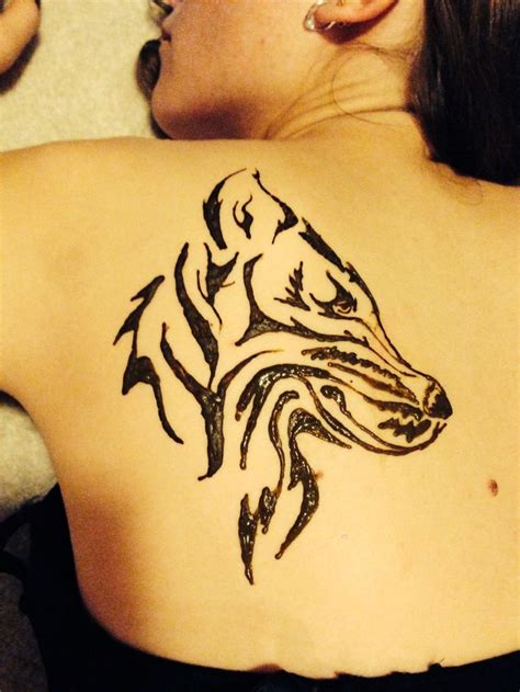 henna tattoo wolf wolf henna my did