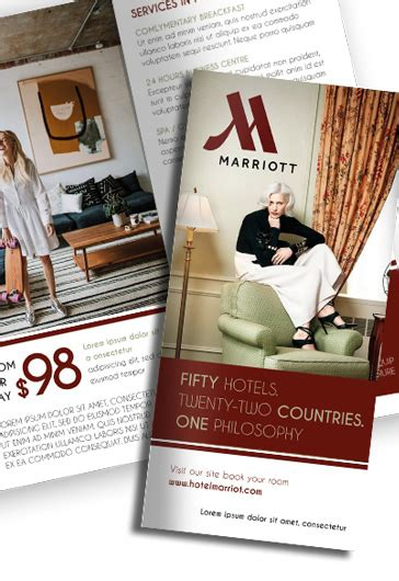 free templates for hotel brochures hotel motel free psd tri fold psd brochure template by