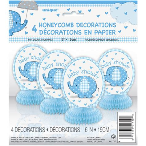 Walmart Baby Shower Supplies by Mini Honeycomb Blue Elephant Baby Shower Decorations 4pk
