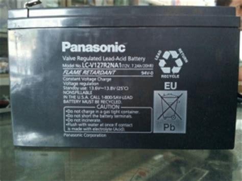Baterai Panasonic 12v 7ah jual aki baterai kering maintenance free mf battery