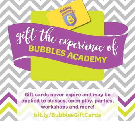 Gift Cards For Small Businesses - gift card special through small business saturday bubbles academy