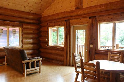 log cabin interiors photo gallery michigan cedar mount bohemia adventure resort gling com