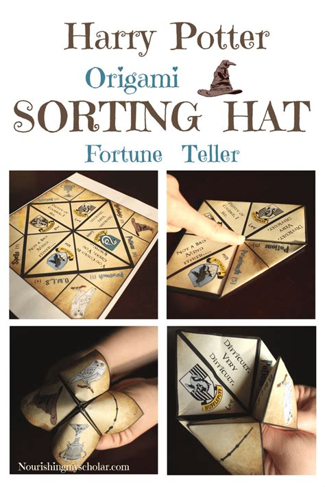 Harry Potter Origami - harry potter origami sorting hat fortune teller