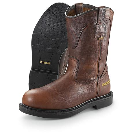 pull on work boots s 10 quot carhartt 174 pull on work boots 209262 work