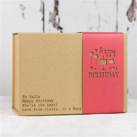 happy birthday gift box by fora creative