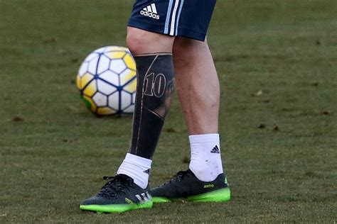 online tattoo course uk lionel messi shows leg tattoo at argentina training
