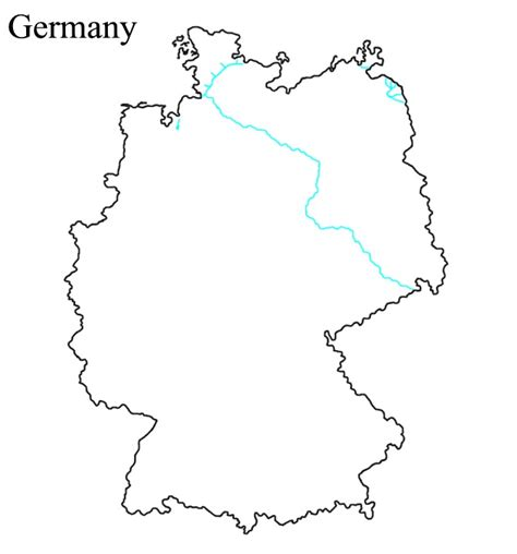 germany map printable germany blank map