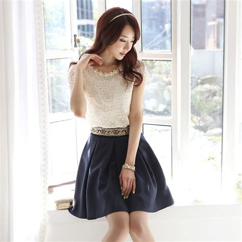 Chiffon Blouse Korea Import White Putih new korean fashion womens sleeve casual lace shirt chiffon blouse tops ebay