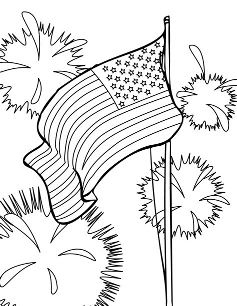 Coloring Page 4th Of July by Fourth Of July Coloring Pages Part Iii