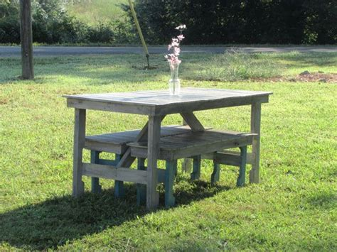 picnic table and bench set kitchen table rustic