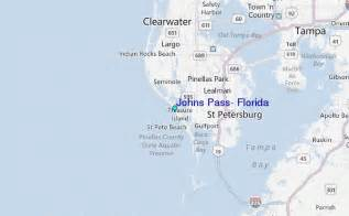 johns pass florida map johns pass florida tide station location guide