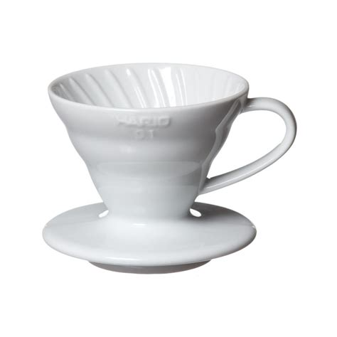 Hario V60 Plastic Dripper Size 01 White hario v60 coffee dripper size 01 prima coffee