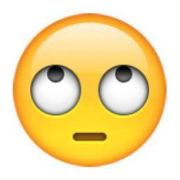 emoji eye roll face with rolling eyes emoji u 1f644