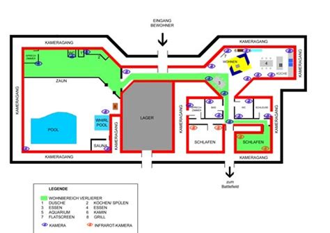 floor plan of big brother house big brother 4 germany house plan images frompo