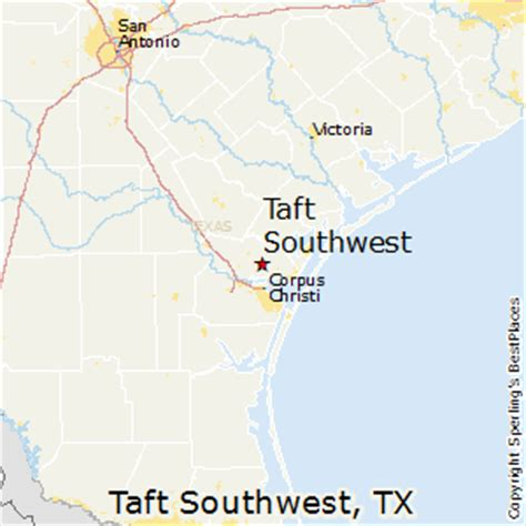 southwest texas map best places to live in taft southwest texas