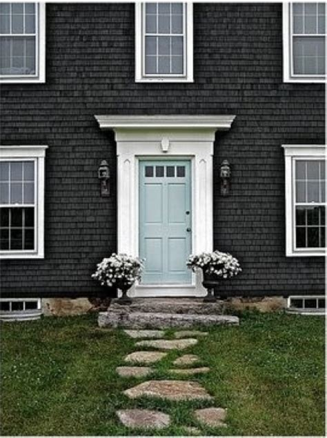 What Color Front Door With Grey House Front Door Dreaming The Lil House That Could