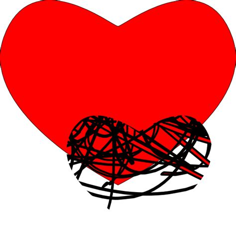 heart black  red clip art  clkercom vector clip