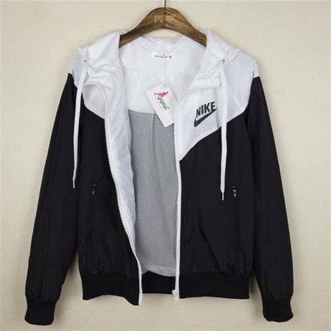 jacket nike black and white workout clothes nike