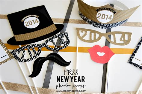 new year photo booth props printable free printable new year photo props i nap time