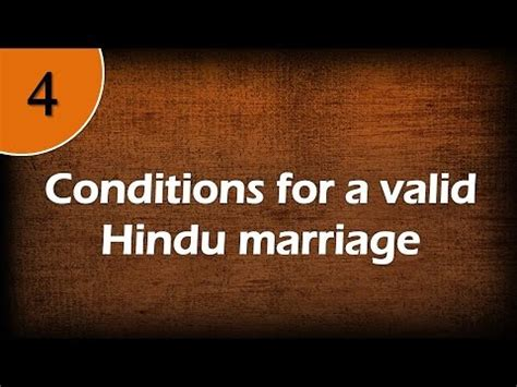 section 26 of hindu marriage act conditions for a valid hindu marriage youtube