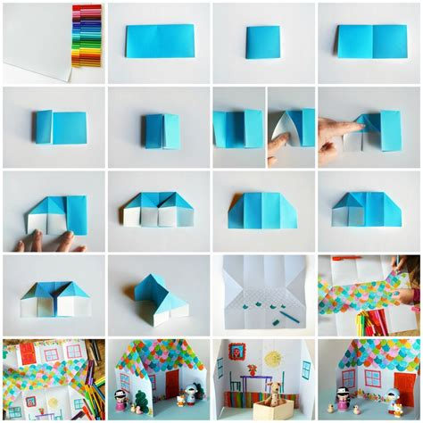 How To Make A Paper House 3d Step By Step - 1000 images about cardboard dollhouse on