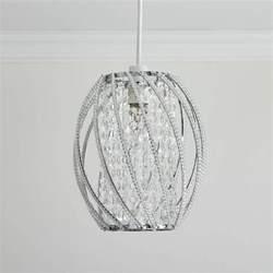 beaded pendant light shade wilko oval twist beaded pendant shade clear at wilko